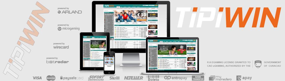 Tipiwin ist die Webseite für alle Fussball, Tennis, Basketball, Eishockey und Volleyball Fans.